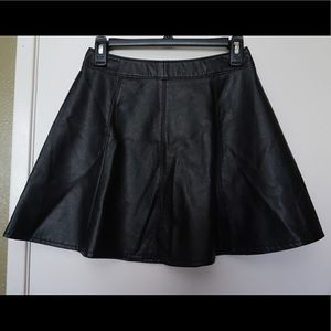 Faux leather high waisted skirt